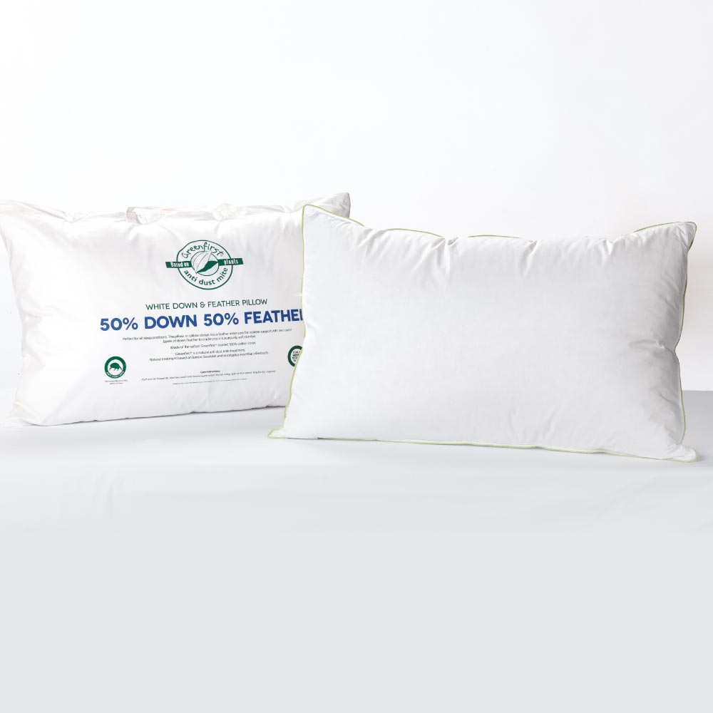 Greenfirst® 50/50 Feather & Down Pillow
