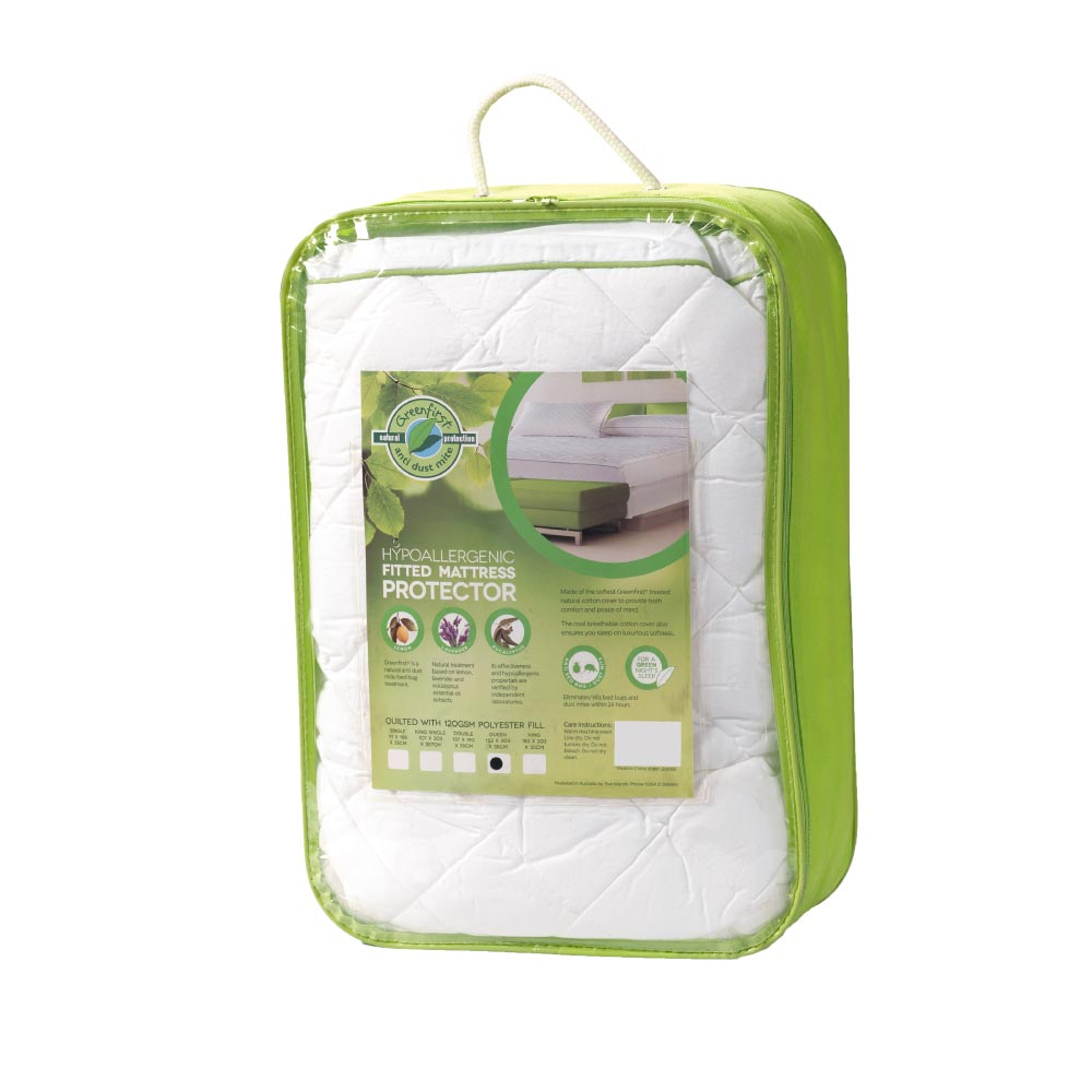 Greenfirst® Hypoallergenic Fitted Mattress Protector